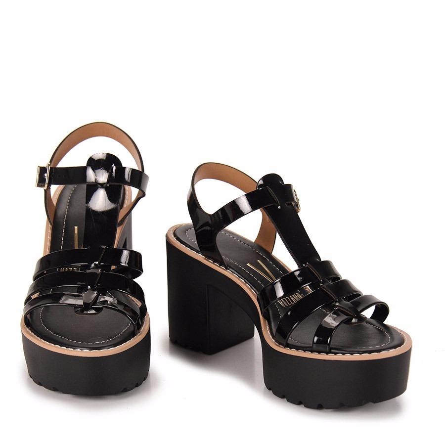 1348be11a sandália tratorada vizzano salto grosso 6335102 envernizada. Carregando  zoom.