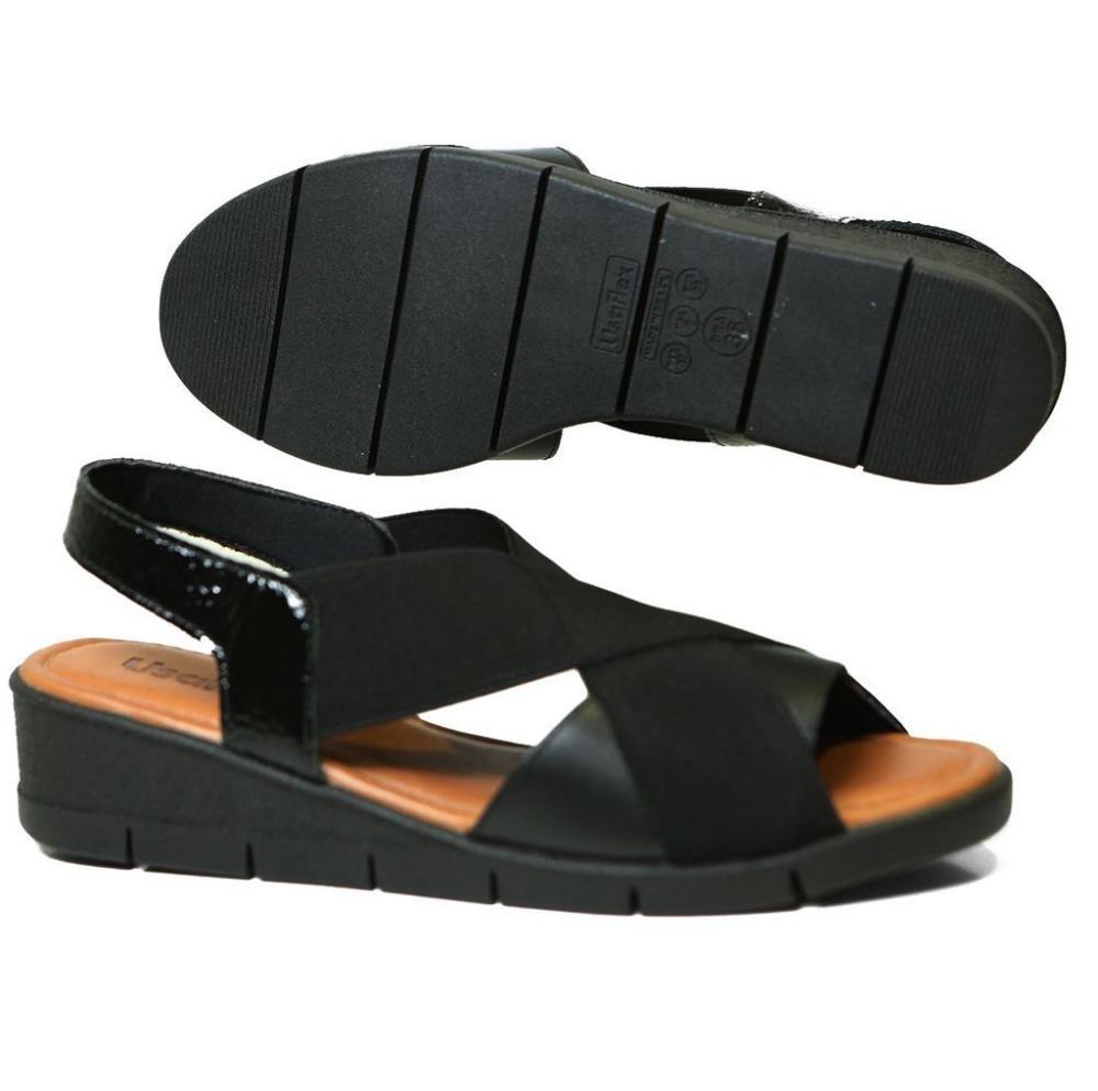 35fb18bb6 Sandália Usaflex Aa1009 Anabela Elástico Comfort - R$ 149,90 em ...