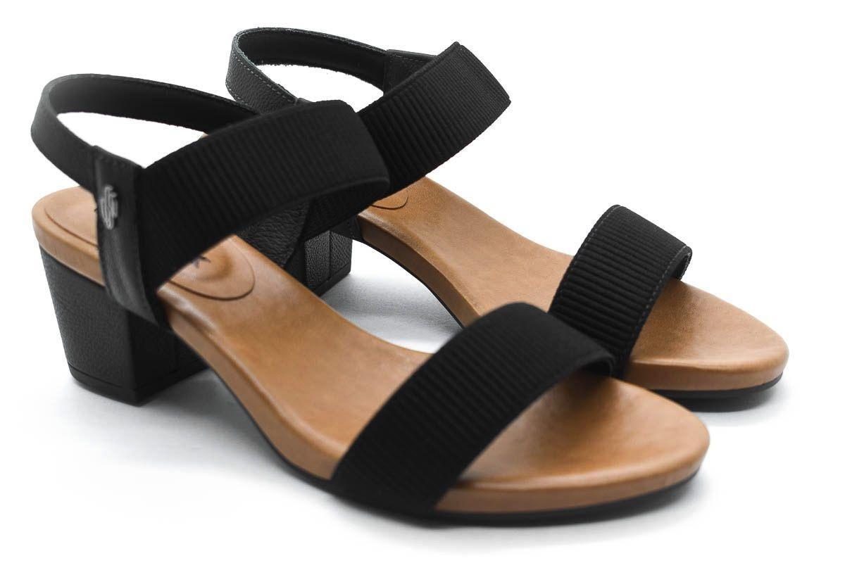 1404a14e19 sandália usaflex elástico canelado preto. Carregando zoom.