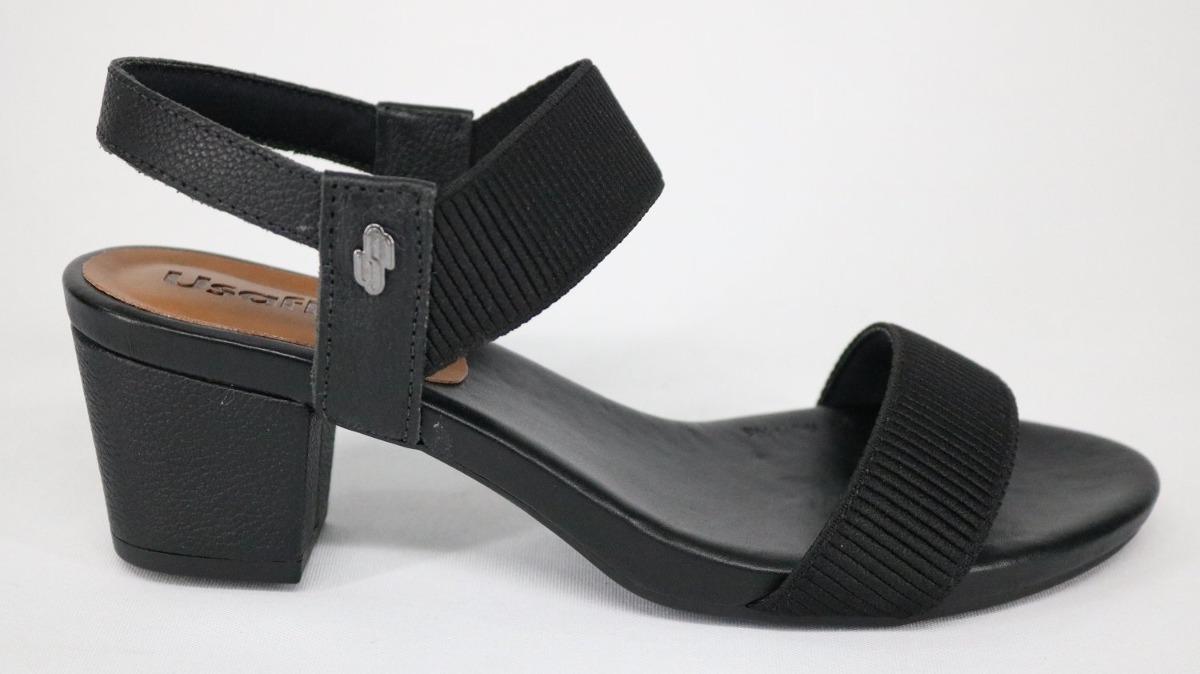 6a05edc8e2 sandália usaflex elástico salto médio preto - 34. Carregando zoom.