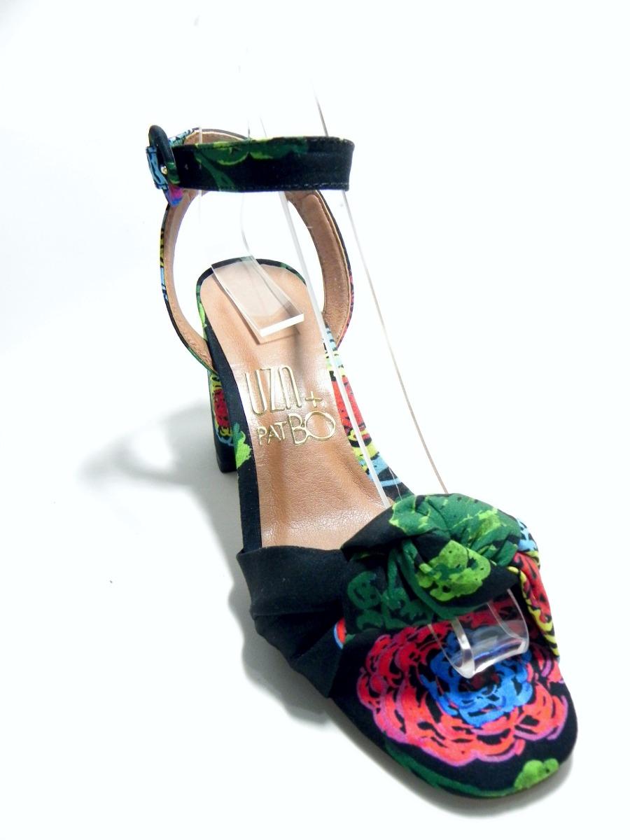 e55accb4f1 sandália uza salto grosso baixo floral - cod. 9010055. Carregando zoom.