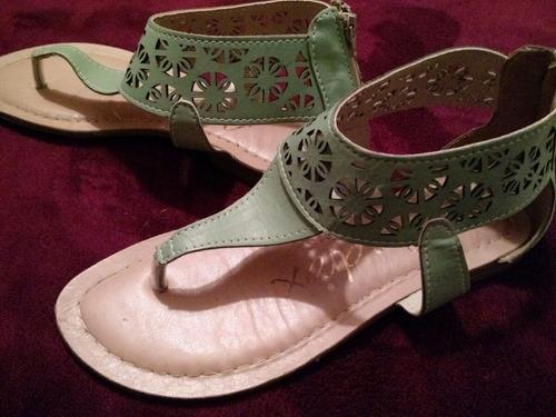 sandália verde musgo tam 35 linda!!!!