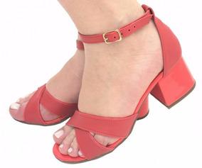 3ee4c03c6 Sapato Meia Pata Salto Grosso Baixo - Sapatos com o Melhores Preços ...