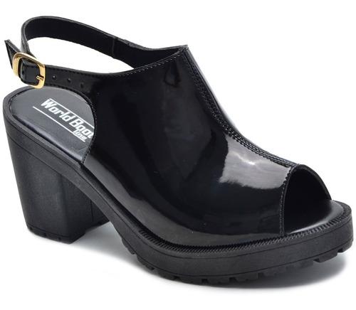 sandália verniz feminina salto alto 4 cores promoção 2019