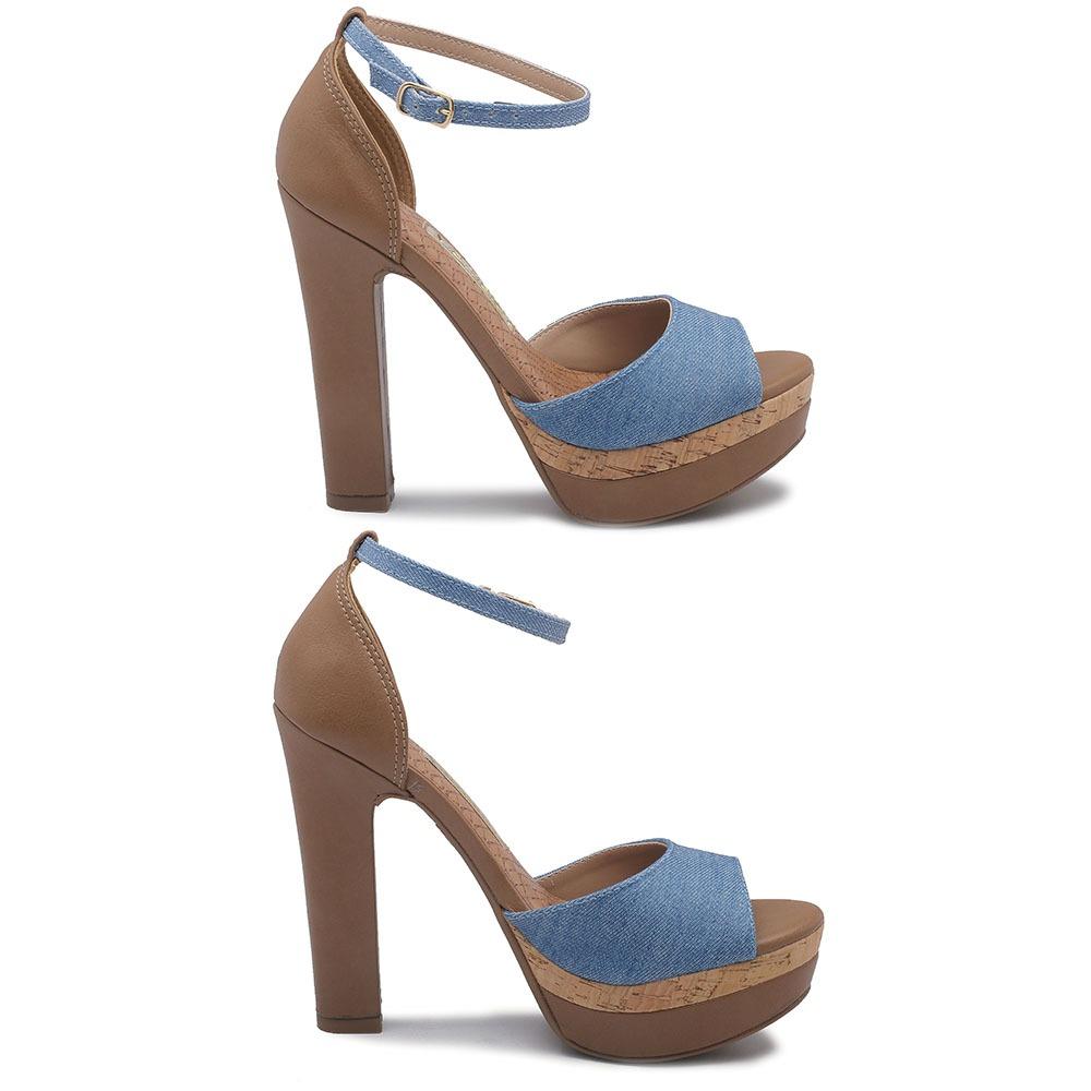 e8e067b628 sandália via marte azul camel 16-10701. Carregando zoom.