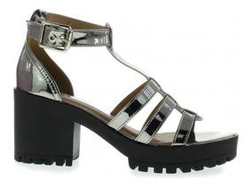 da0388d9f Sandalia Via Marte Salto Tratorado - Sapatos com o Melhores Preços no  Mercado Livre Brasil