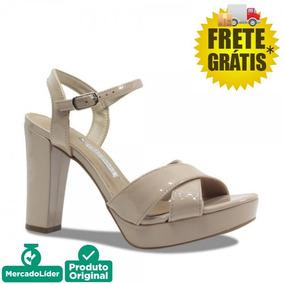 418375bf19 Sandalia Bege - Sandálias Via Marte para Feminino no Mercado Livre ...