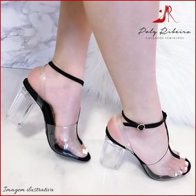 4df35d9ac6 Sandalia Acrilico Transparente Grife Varru - Sapatos no Mercado Livre Brasil