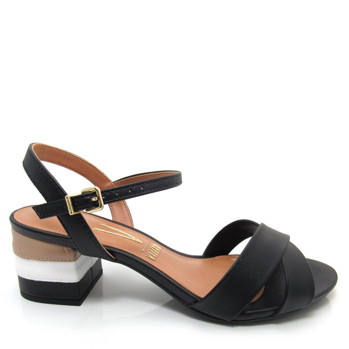 0c7afba025 sandália vizzano 6291327 feminina salto baixo e grosso. Carregando zoom.