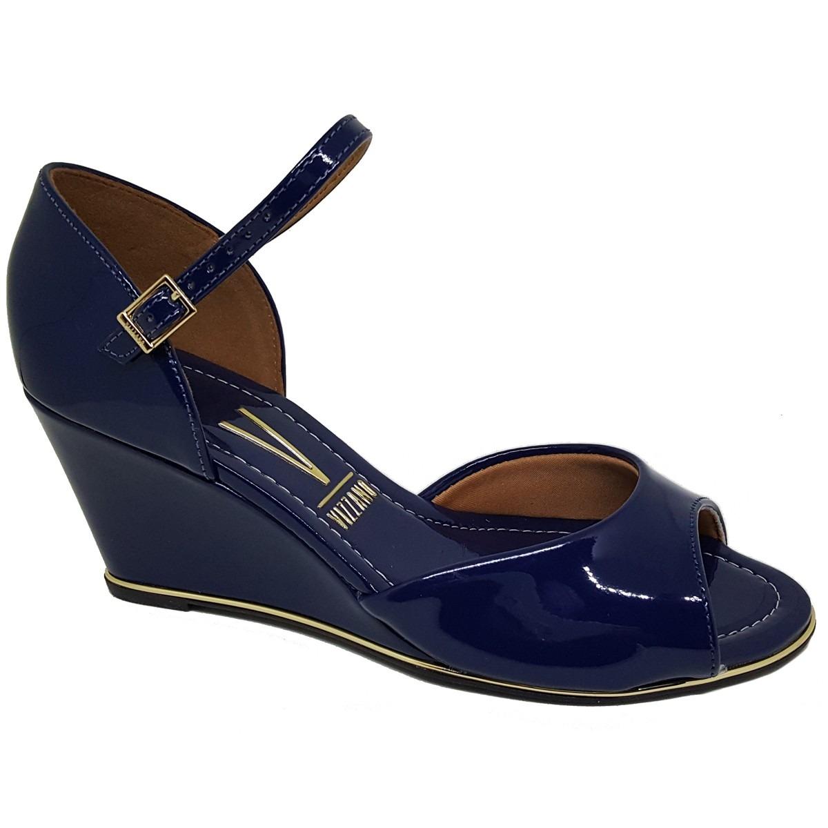 eef5f0289 Sandália Vizzano Anabela Azul Marinho - 6271.111 - R$ 120,00 em ...
