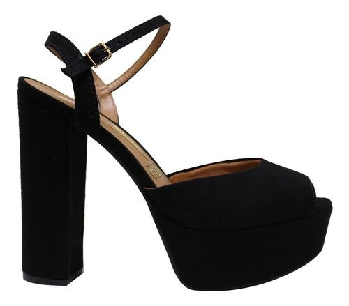 sandalia vizzano confortavel salto grosso meia pata original