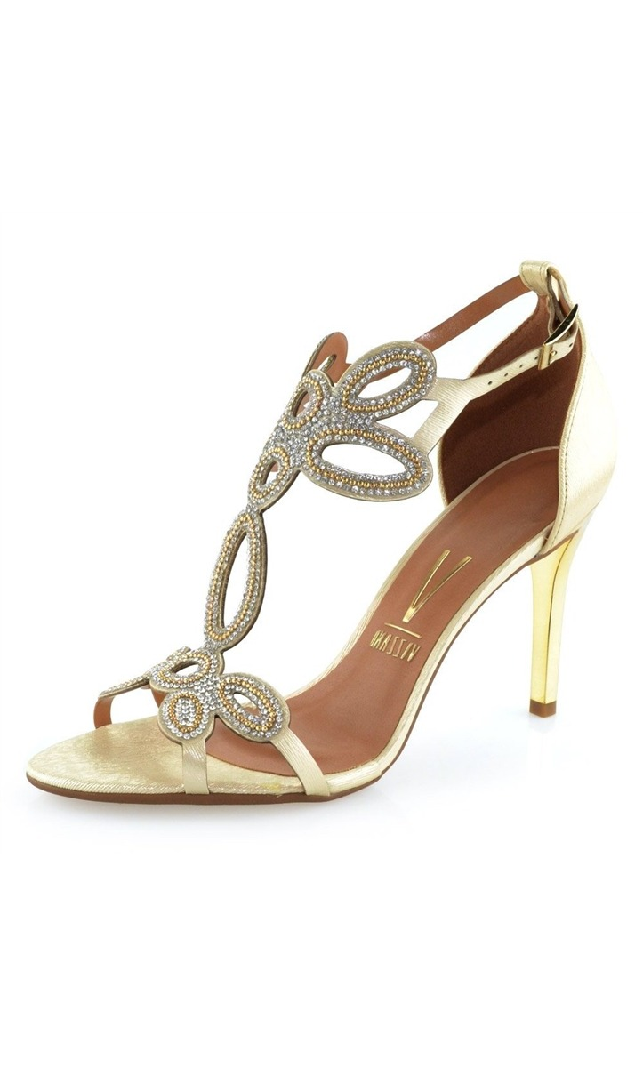 d78c04c2d sandália vizzano dourada com strass. Carregando zoom.