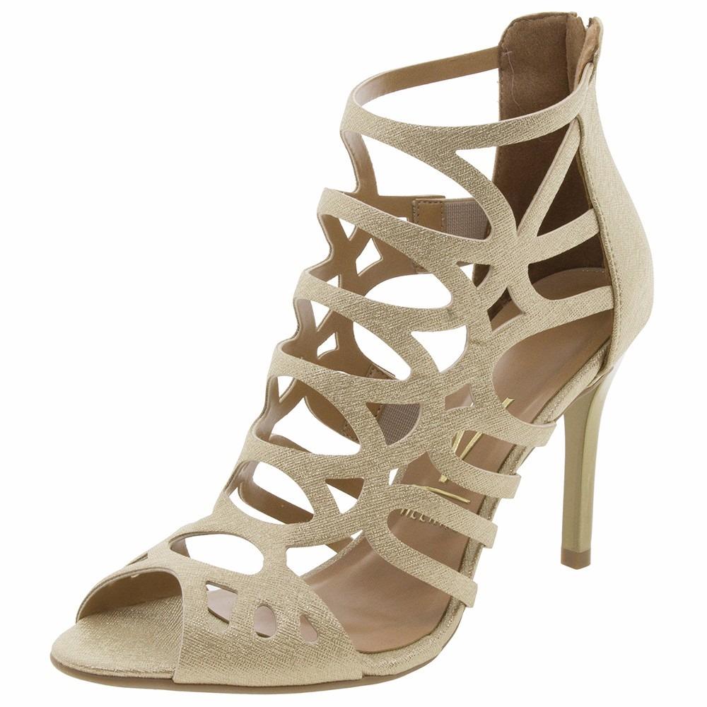 d92d678c7 sandália vizzano feminina dourada salto alto. Carregando zoom.