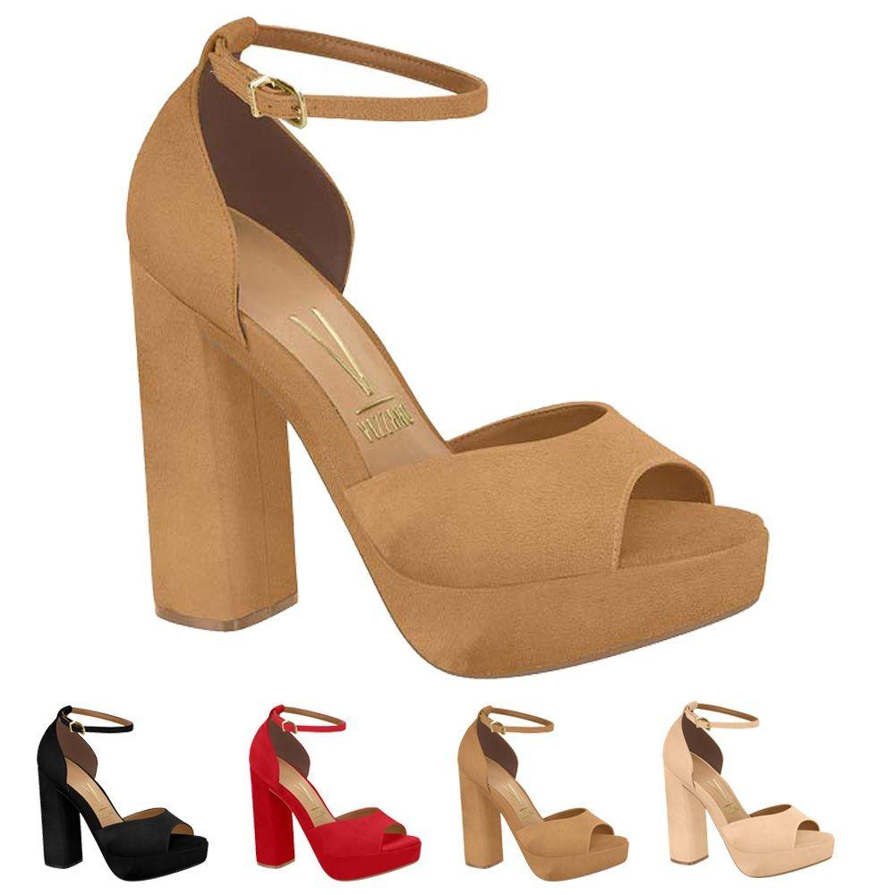73fc88036 sandália vizzano feminina salto confortável 6383102 linda. Carregando zoom.