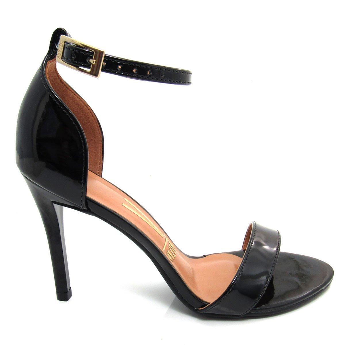 520f1fa26c sandália vizzano feminina salto fino 6306111 verniz preta. Carregando zoom.