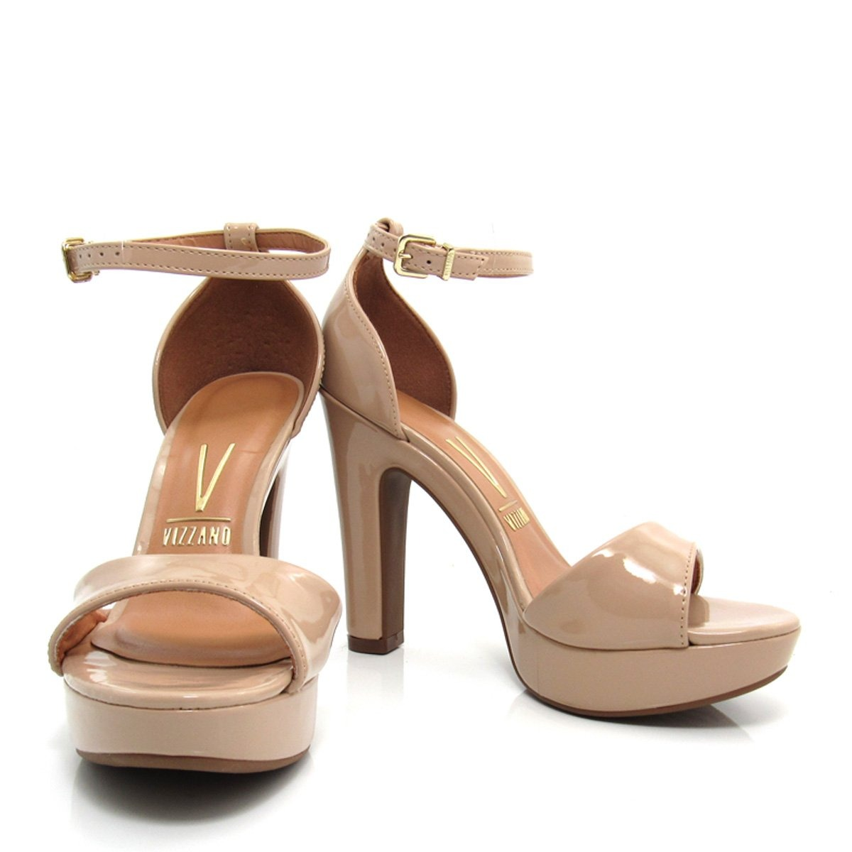 2f7ab3d82b sandália vizzano meia pata salto grosso feminina 6292117. Carregando zoom.