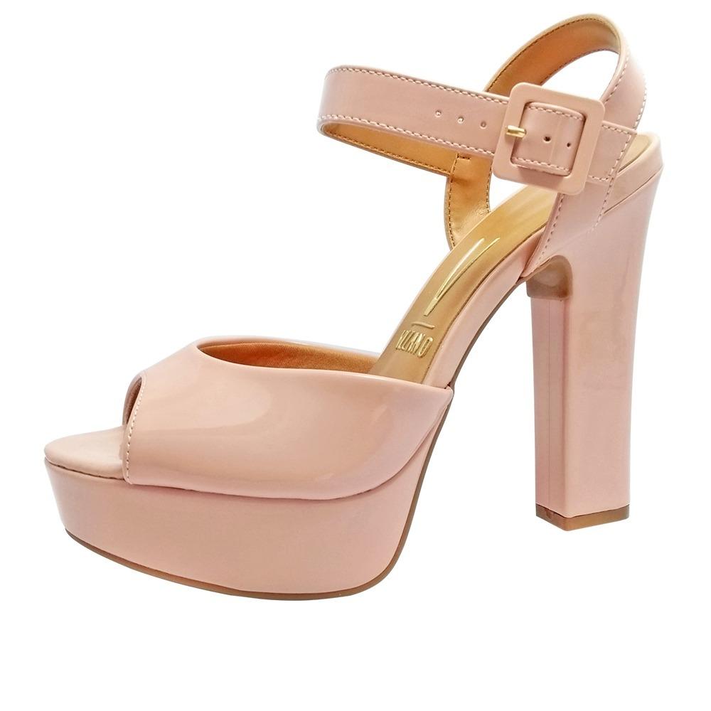 1338101d9 sandalia vizzano nude rosa salto alto grosso meia pata festa. Carregando  zoom.