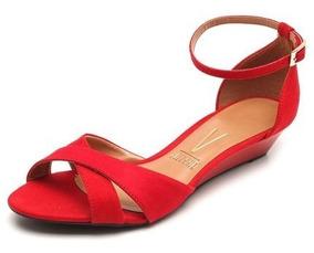db8ecf930 Sandalia Anabela Vizzano Vermelha - Sapatos com o Melhores Preços no Mercado  Livre Brasil
