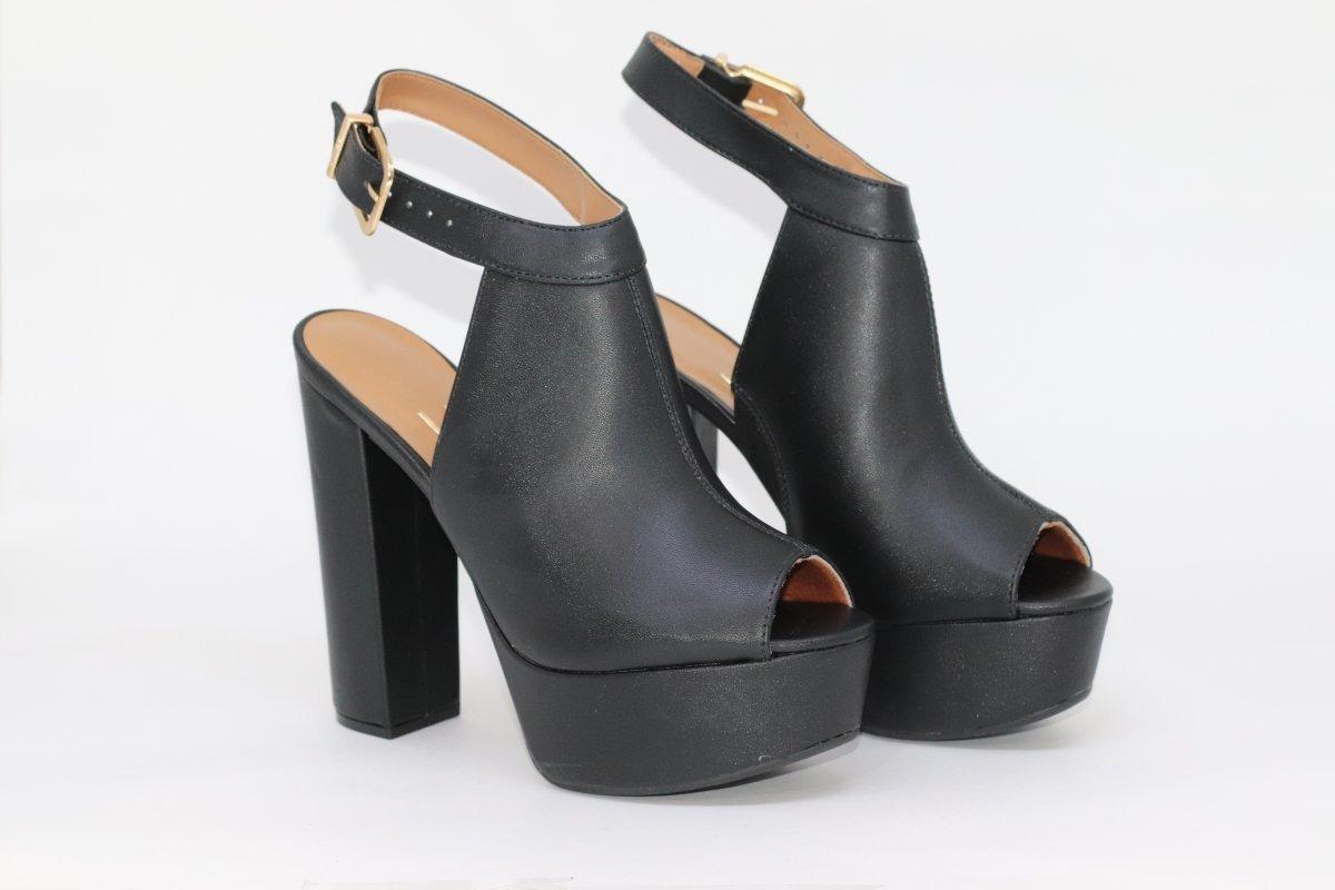 3e3ac3cbe sandália vizzano salto alto com meia pata melhor preço. Carregando zoom.