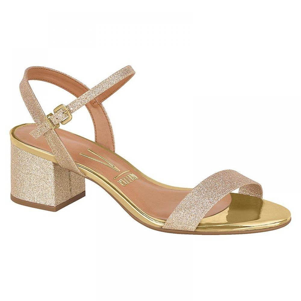 01c0c8629 sandália vizzano salto bloco glitter dourado 6291.125. Carregando zoom.