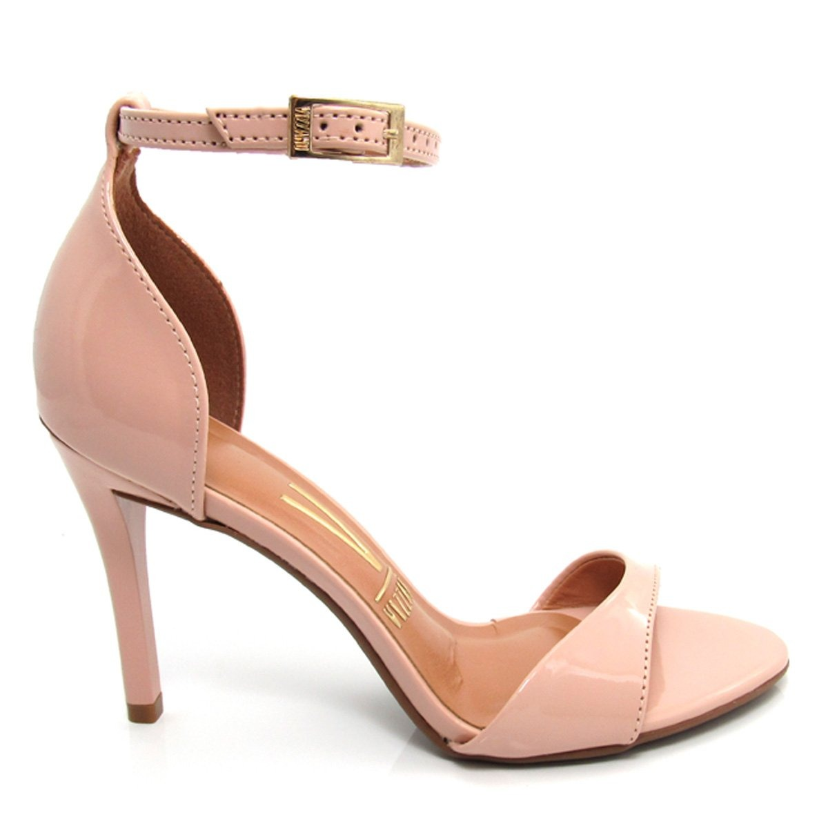 03ac8ad27d sandália vizzano salto fino feminina 6306106 verniz nude. Carregando zoom.