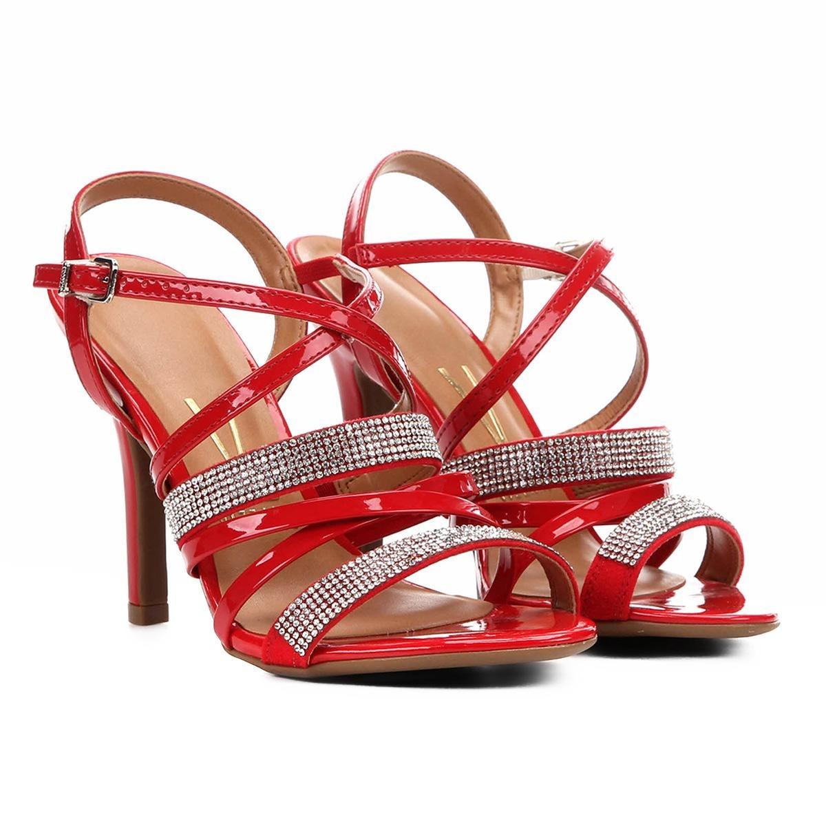 c59e4e8c55 sandália vizzano salto fino multi tiras hotfix feminina. Carregando zoom.