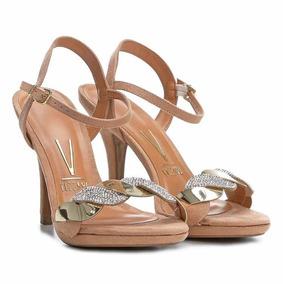 bb85731a92 Sandalia Salto Fino Vizzano Preta Com Strass - Sapatos no Mercado Livre  Brasil