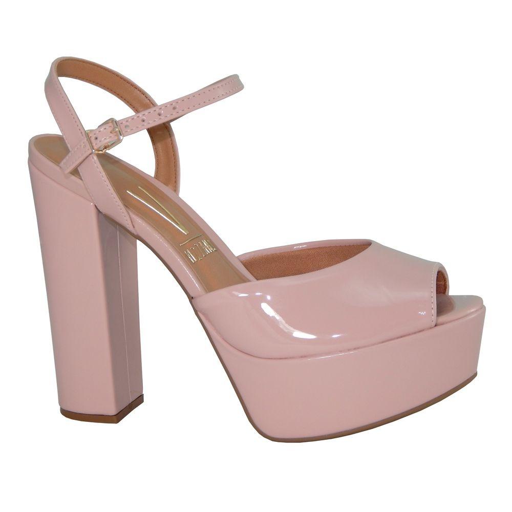 cf06c61d75 sandália vizzano salto grosso meia pata verniz rosa 6282100. Carregando zoom .