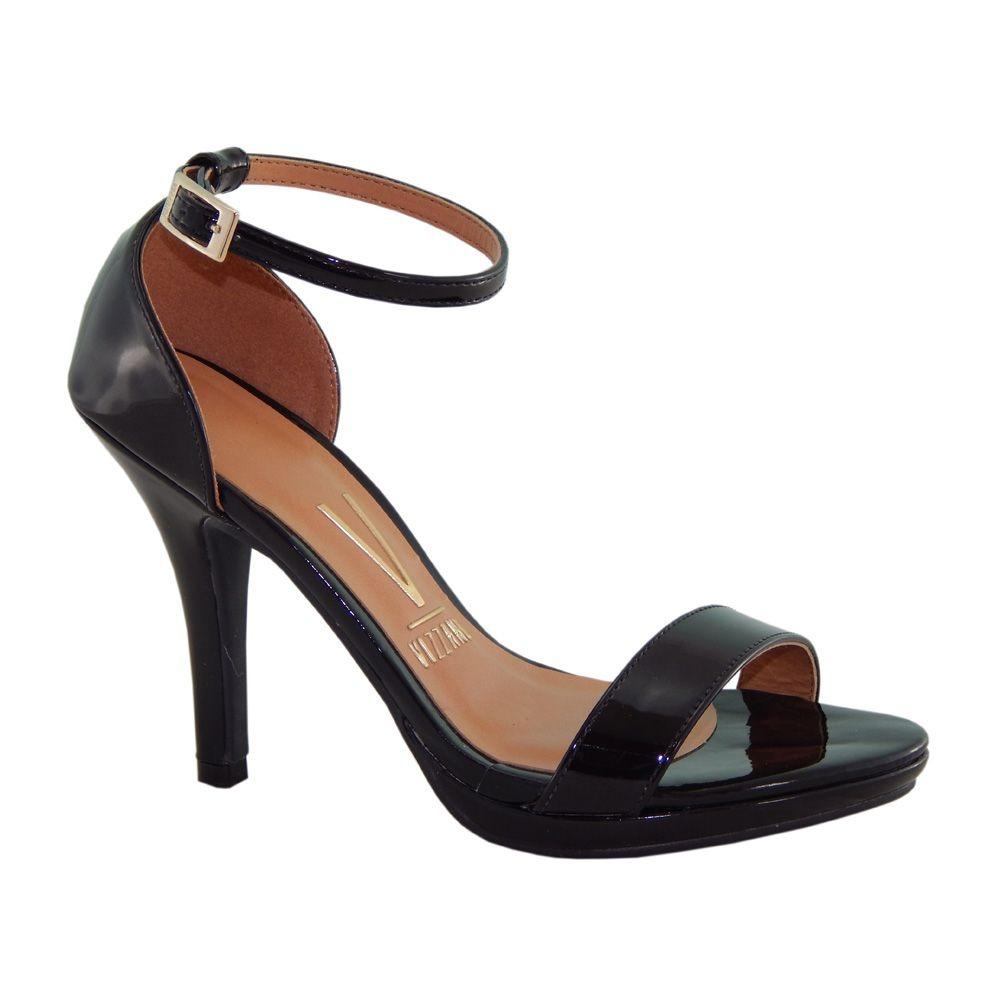 08ac30f55 sandalia vizzano salto meia pata verniz preto gisele 6210455. Carregando  zoom.