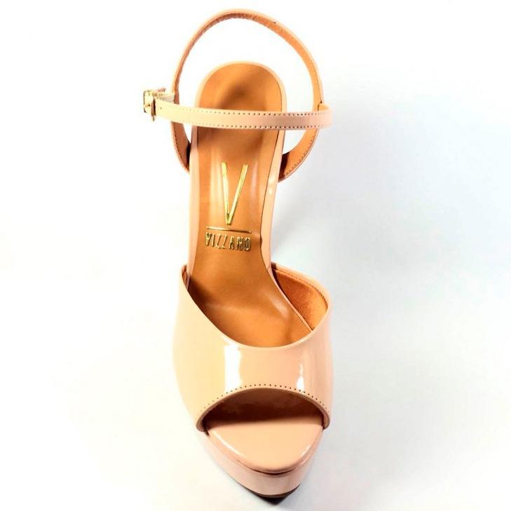 59304831d Sandália Vizzano Verniz Cristal Brilho Feminina - Nude - R$ 179,75 ...