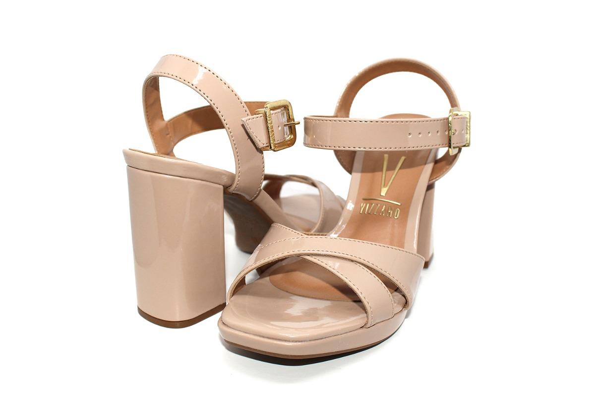 85f9356fbc sandália vizzano verniz cristal brilho feminina - nude. Carregando zoom.