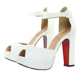 db87a3bdc1 Salto Alto Meia Pata Week Shoes - Sapatos no Mercado Livre Brasil
