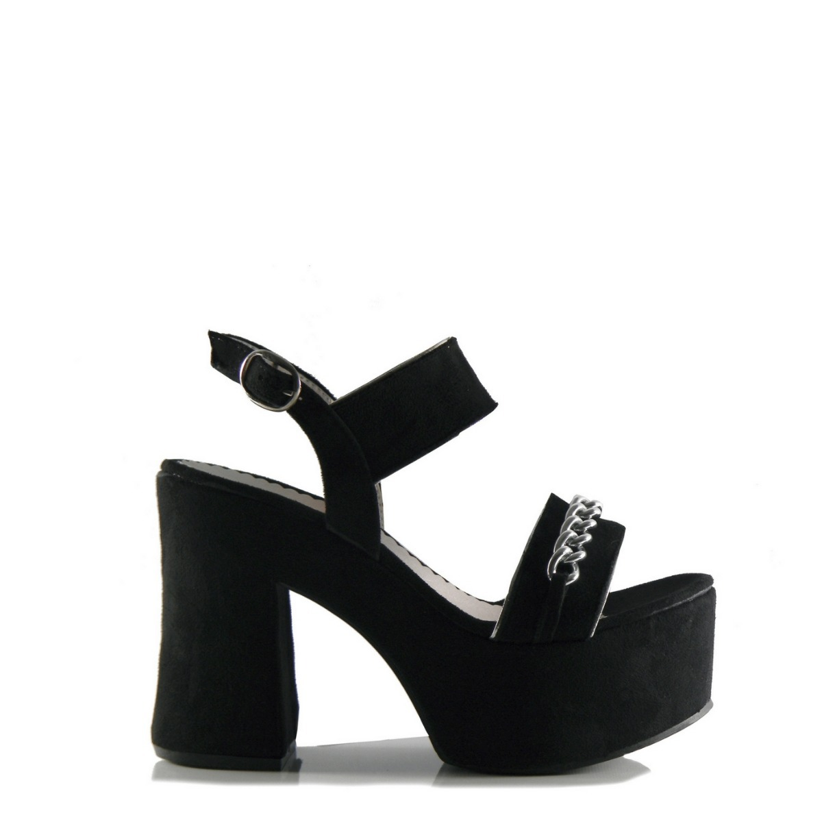 ab3d9c84f87 sandalia zapato mujer gamuza taco palo y cadenita. Cargando zoom.