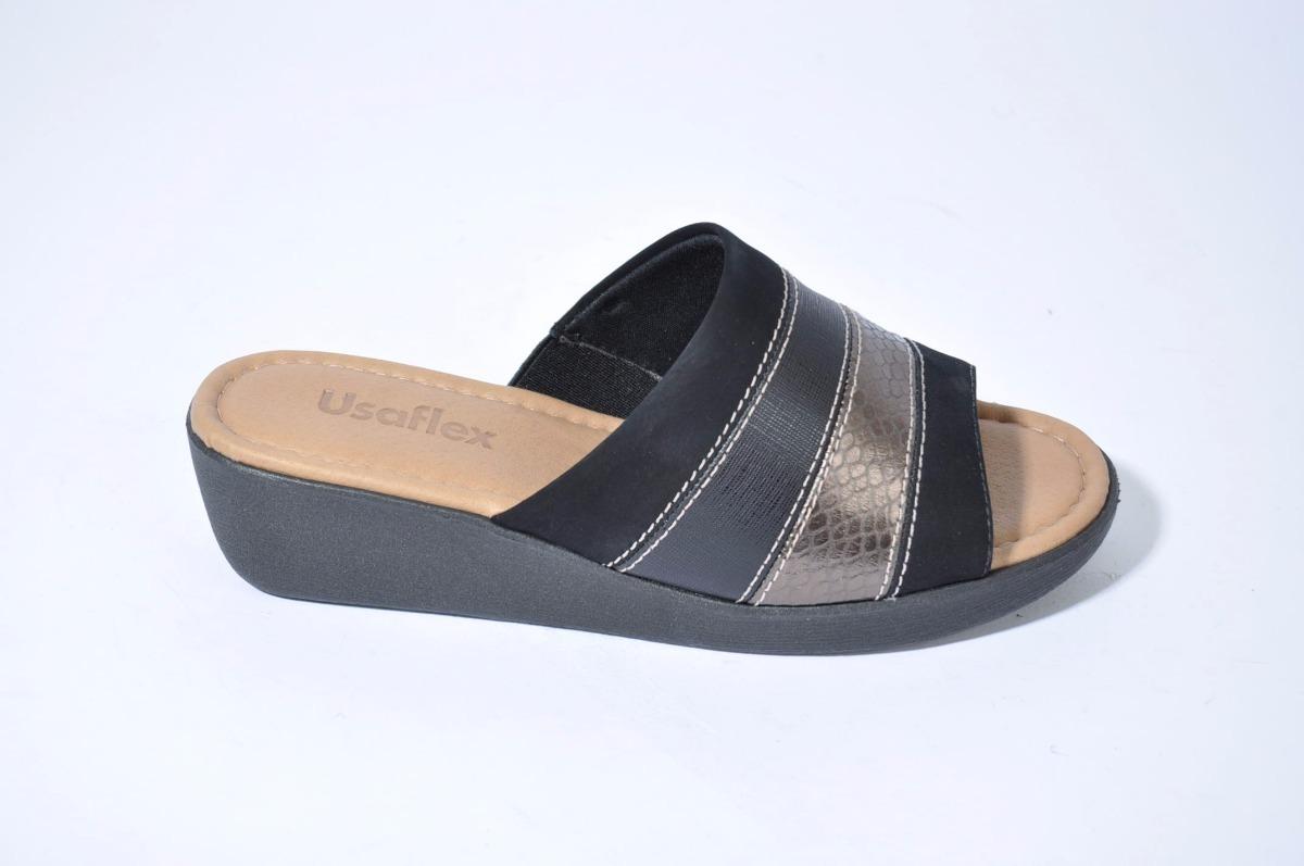 525584553f3 sandalia zueco chinela mujer cuero usaflex 6261 importado. Cargando zoom.