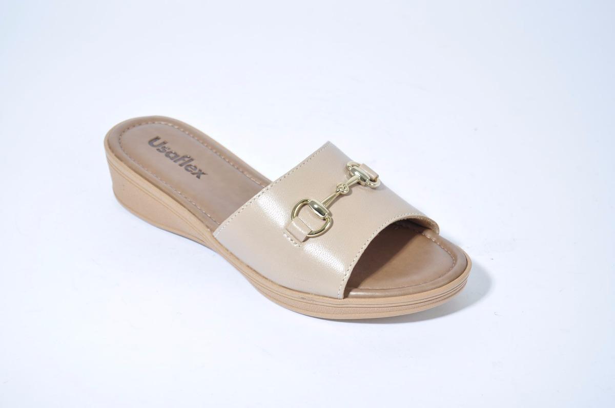 160bc317e8c sandalia zueco chinela mujer cuero usaflex v1237 importado. Cargando zoom.