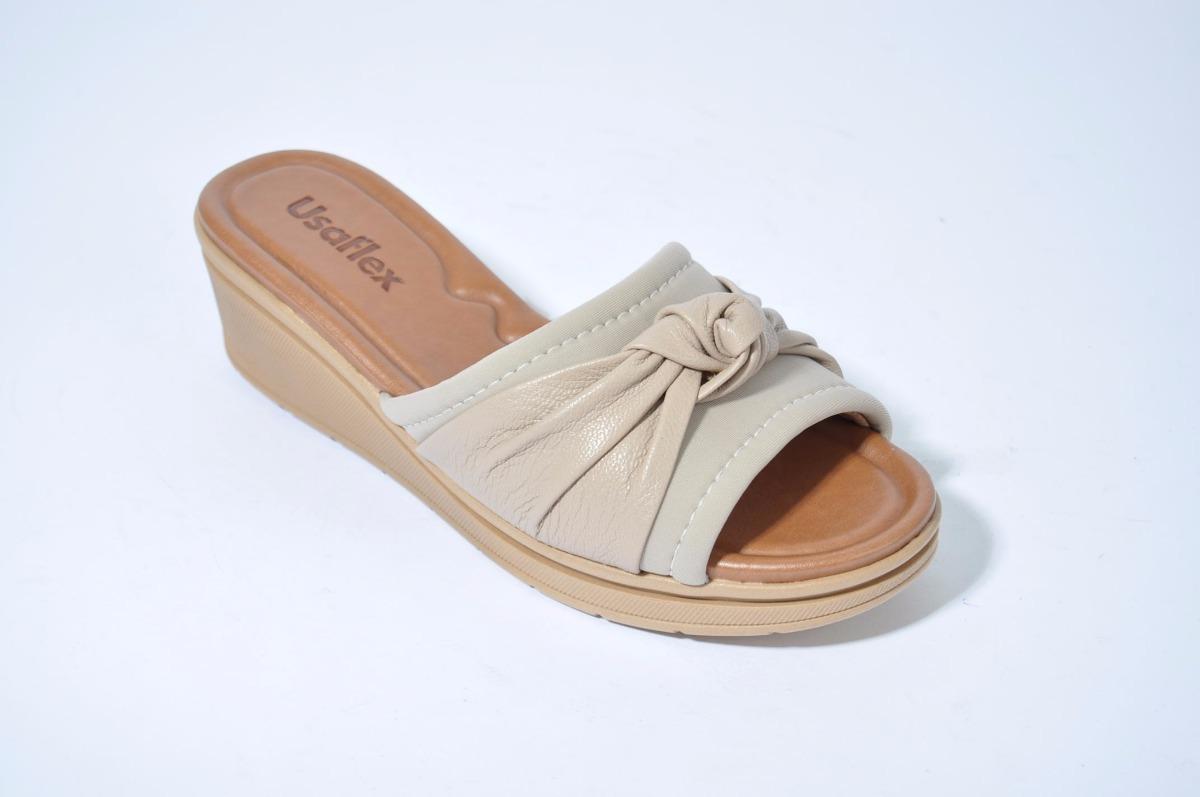 a7a55a79174 sandalia zueco chinela mujer cuero usaflex x3815 importado. Cargando zoom.