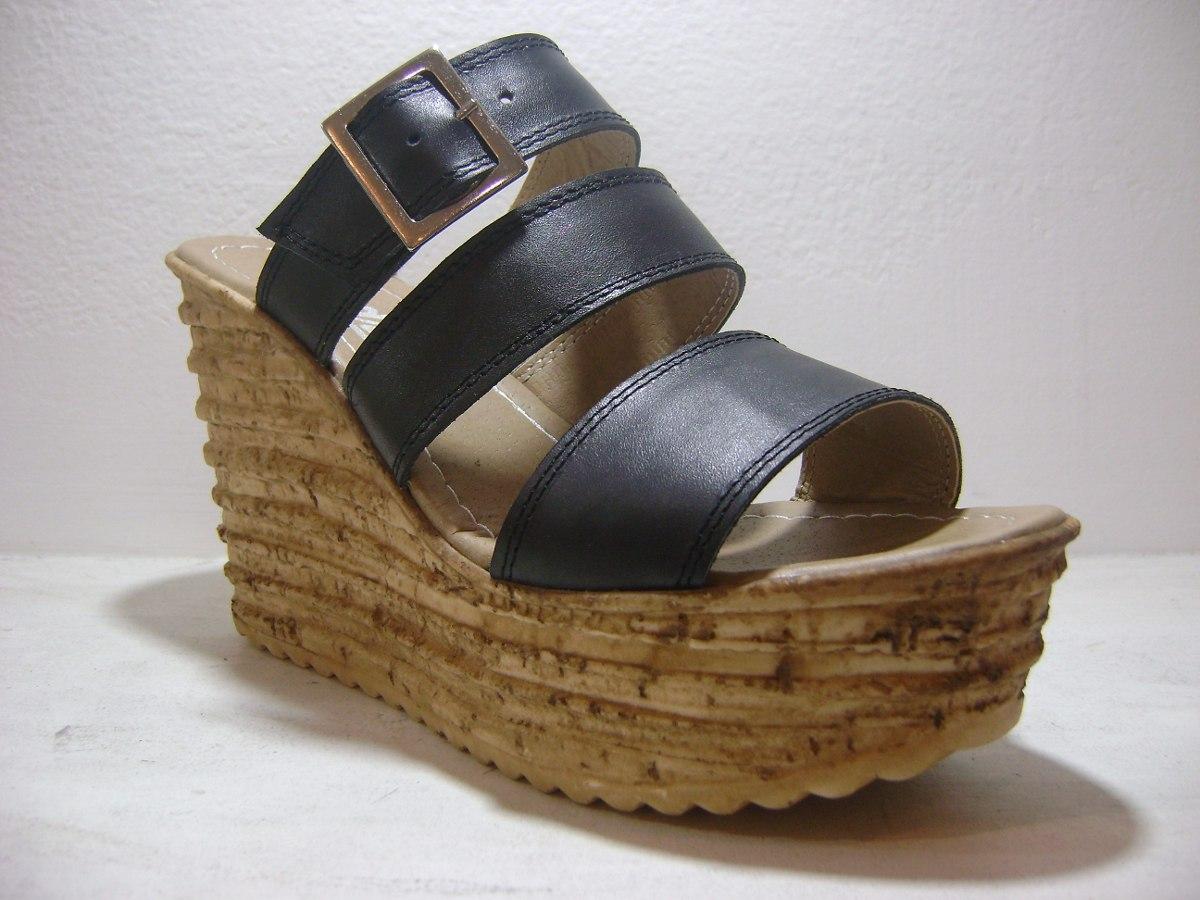 sandalia zueco cuero plataforma alta s.yute taco chino mujer. Cargando zoom. 1435a0724ca