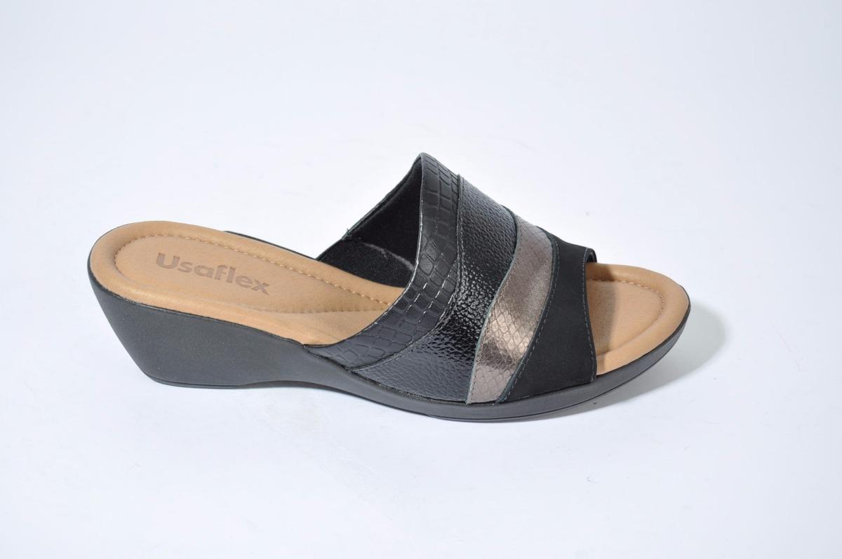 387266277ce sandalia zueco mujer de cuero usaflex art  i1506 importado. Cargando zoom.