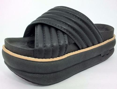 sandalia zueco plataforma gomon de mujer. verano 2017