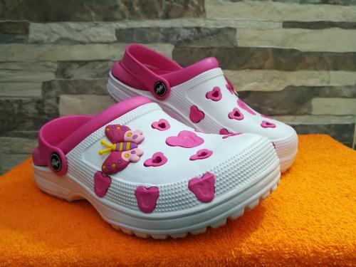 sandalia zueco zapato blanca material eva