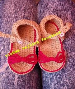 d20a15ab6 Sandalias Tejidas Al Crochet Para Bebes - Ropa y Accesorios en ...