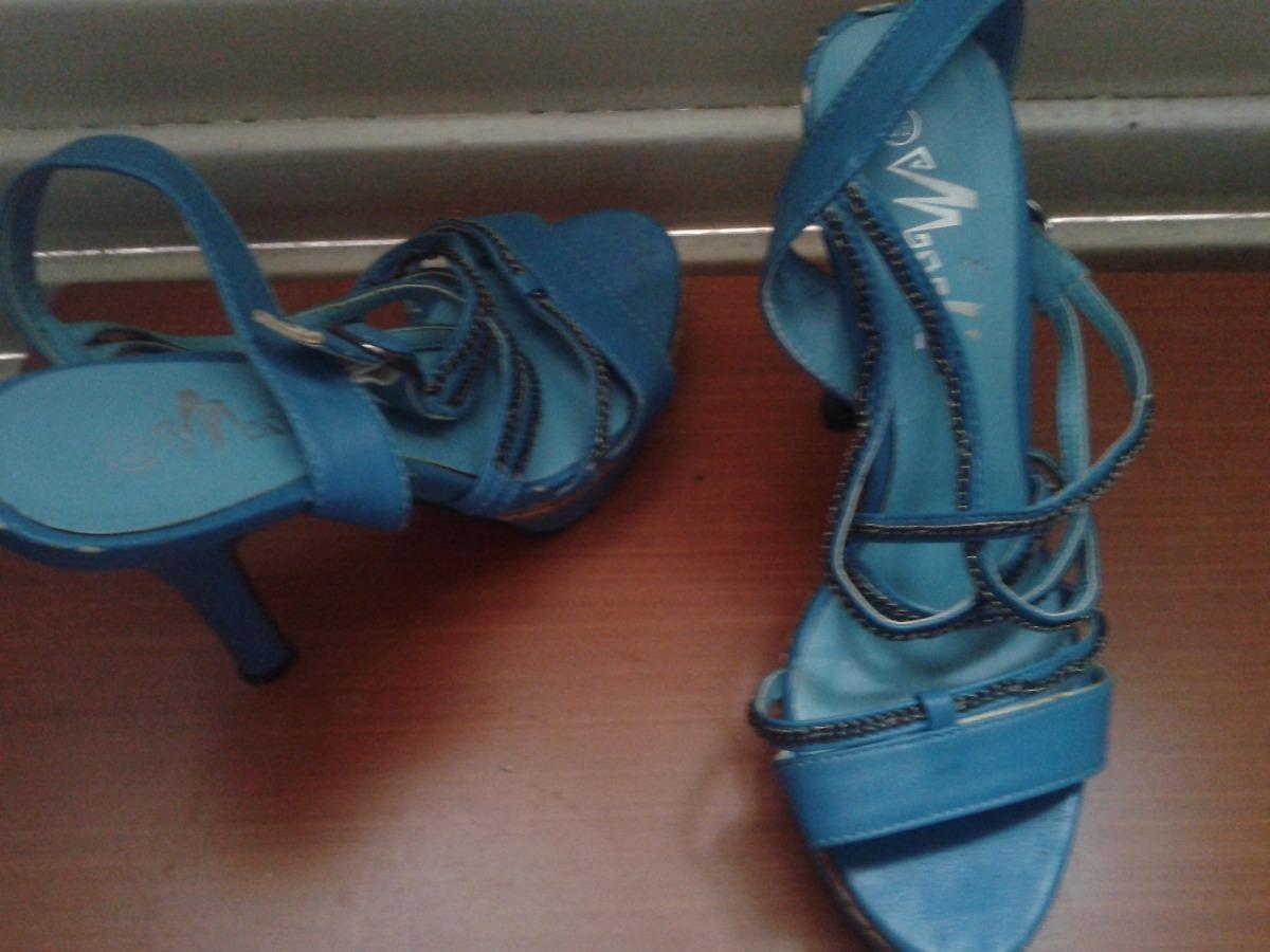 48310d68e54d1 sandalias altas azules. Cargando zoom.