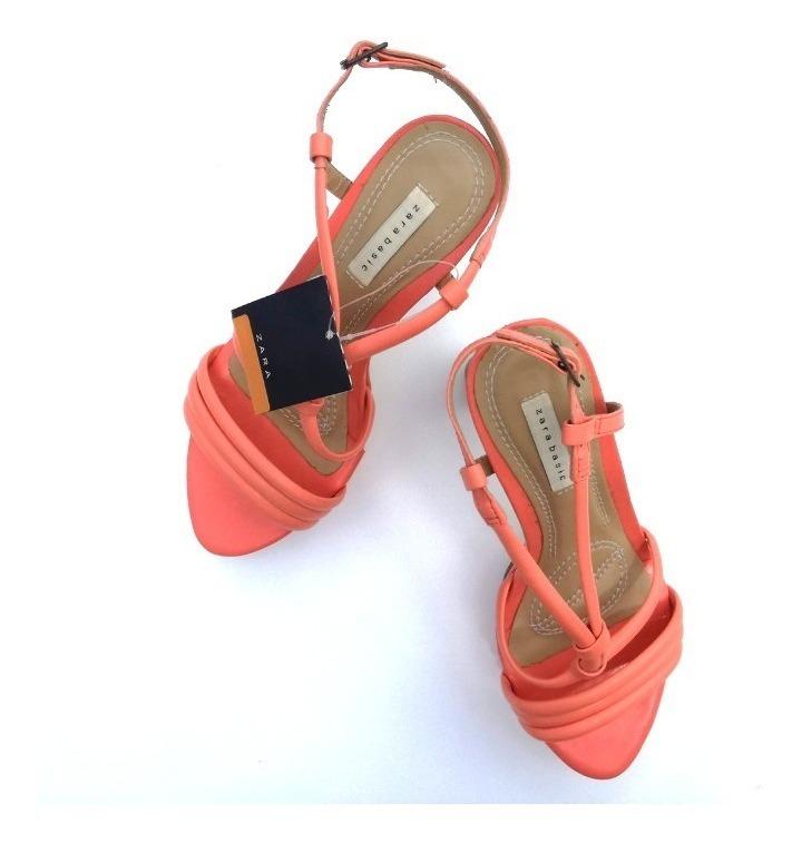 Coral Sandalias Zara Talle 36 Altas Y6vg7ybf
