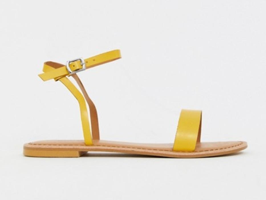 Sandalias De Marca Asos 39 Talla Amarillas Cuero 4AL3Rj5q
