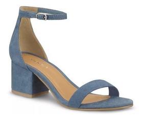 En Zapatos Mezclilla Cuadrado Azul Sandalia Tacon De Mercado Libre SzMVLqpGU