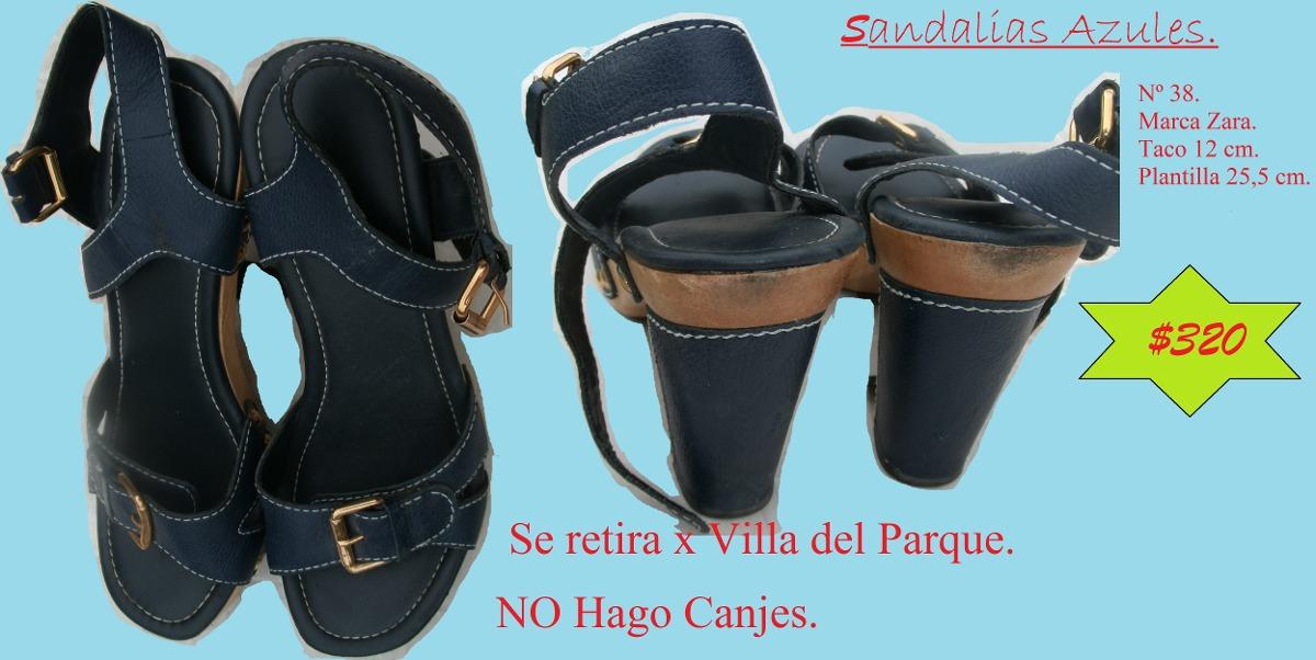 Sandalias AzulesNº Zara320 38Marca En Libre Mercado 00 wkO8Pn0