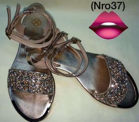 En Zapatos Mujer Con Brillantes Plateadas Sandalias vwNPym80On