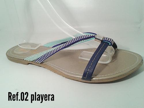 sandalias bajitas marcas nais, gio mayor y detal
