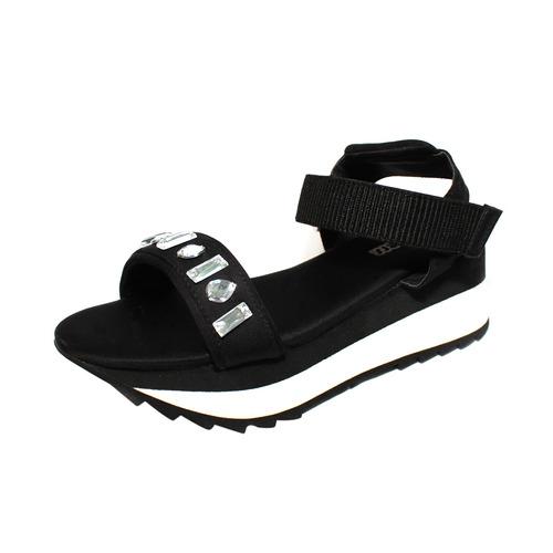 sandalias bamers soho negro/strass