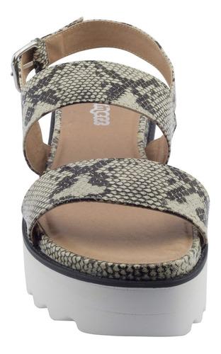 sandalias bamers strap 2sdent snake grey